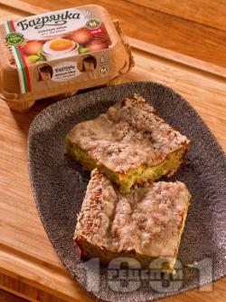 Лесно суфле от тиквички с брашно, сирене, чесън, копър и настърган пармезан - снимка на рецептата